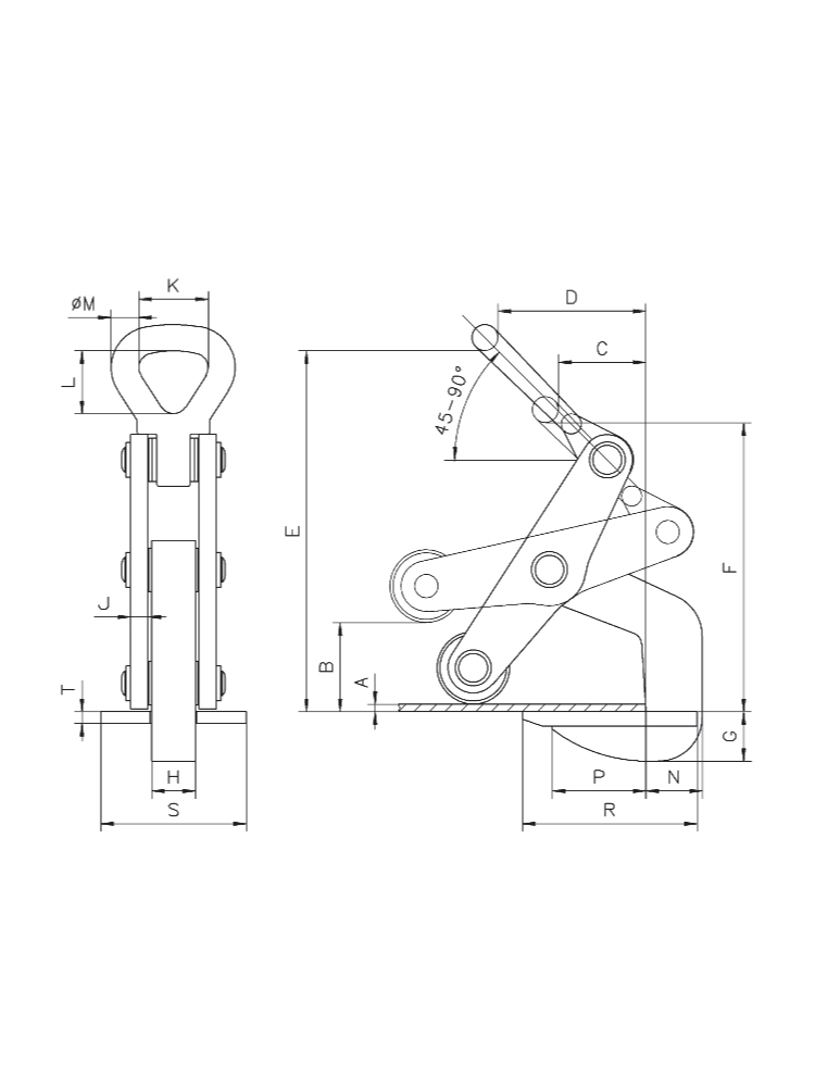 RHHorizontal Plate Clamps